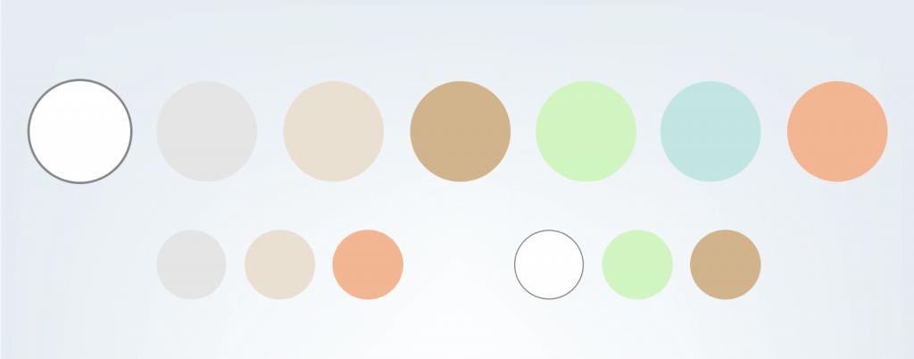 Echantillons couleurs claires